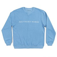 SEAWASH™ Sweatshirt in Washed Blue by Southern Marsh - FINAL SALE