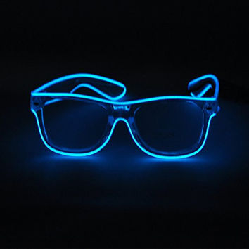 SYDT LED Color Change Rave Sunglasses (White Frame)
