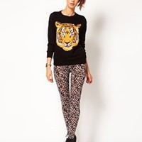River Island Leopard Legging at asos.com