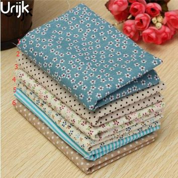 Urijk Mixed Printing 25*25cm Flower Fabric DIY Patchwork Quilting Scrapbooking Sewing Materials Cloth Doll Bag