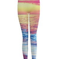 Sunset Beach Printed Leggings