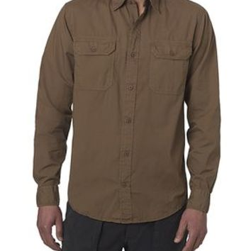 Dockers Wellthread Anchor Poplin Shirt - Army Brown - Men's