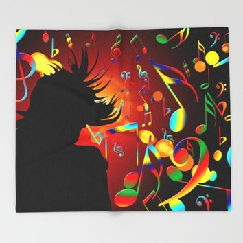 dance Throw Blanket by Karl-Heinz Lüpke