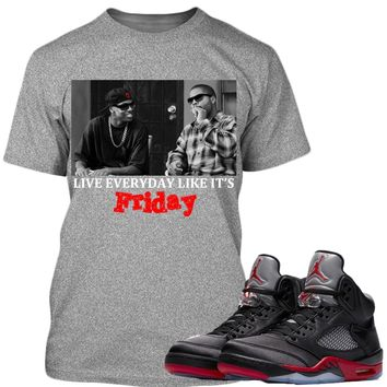 Jordan Retro 5 Satin Sneaker Tees Shirt to Match - FRIDAY PG