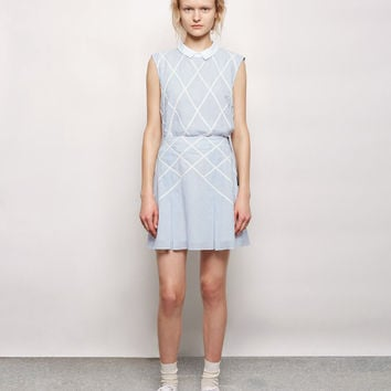 Lattice Appliqu amp;amp;#233; Suspender Skirt by Band of Outsiders