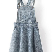 Wash Blue Denim Mini Overalls