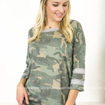 Camouflage Army Lazy Top