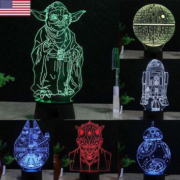 US-Seller-Death-Star-3D-LED-Night-Light-Touch-Switch-Table-Desk-Lamp