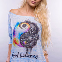 Premium Find Balance Off Shoulder