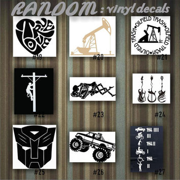 RANDOM vinyl decals - 19-27 - car decal - vinyl sticker - random designs - car window stickers - custom sticker - funny stickers - fun decal