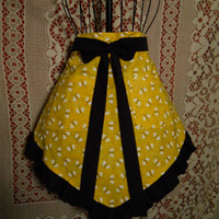 Bumble Bee Half Apron by TheFortiesRevisited on Etsy