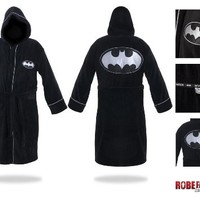 DC Comic Batman Unisex Cotton Terry Cloth Bath Robe, One Size Fits All