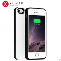 KUNER Colorful 1700mAh Rechargeable External Battery Backup Charger Case Pack Power Bank Fits for Apple iPhone 5 5S and SE CL579