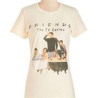 ModCloth Vintage Inspired Mid-length Short Sleeves The One with the Friends Tee