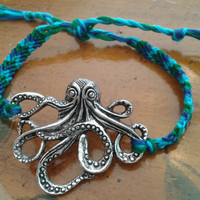 Custom Color Friendship Bracelet with Octopus by BraceletsByCrista