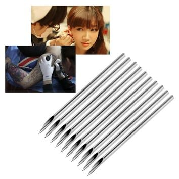 10pcs/bag Surgical Steel Tattoo Piercing Needles Medical Tattoo Needle For Navel Nose/Lip/Ear Piercing 14g (1.6mm)