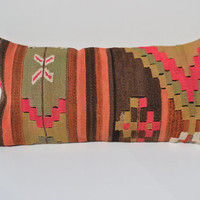 rustic cushion cover outdoor pillow bohemian home decor kilim pillow cover turkish pillow case throw pillow sofa geometric pillow lumbar rug
