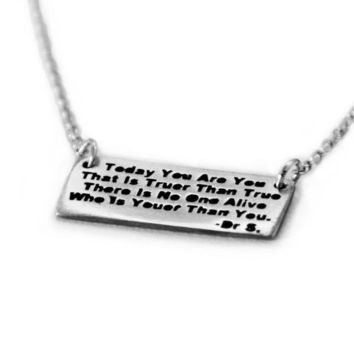 Today You Are You Dr Seuss Necklace by Christina