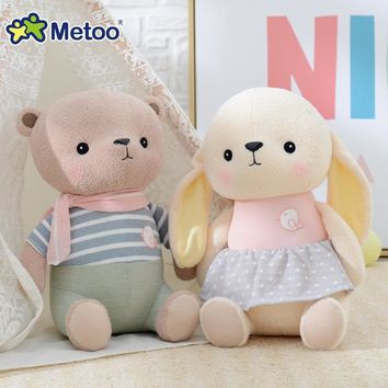 8 Inch Kawaii Plush Stuffed Animal Cartoon Kids Toys for Girls Children Baby Birthday Christmas Gift Bear Rabbit Metoo Doll