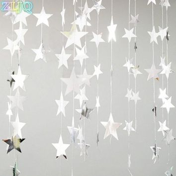 ZLJQ Mirror Star Christmas Ornaments Creative DIY Gold/Silver Star Xmas Tree Decoration for Home New Year Party Window Layout 6D