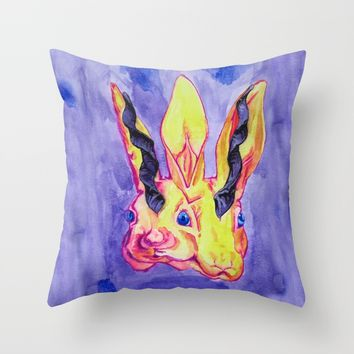 Conjoined Al-mi'raj Throw Pillow by Rachel Hoffman