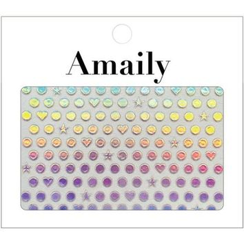 Amaily Japanese Nail Art Sticker / Holographic Dot Pattern – Daily Charme