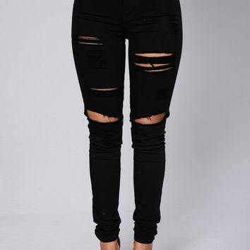Blanched Jeans - Black