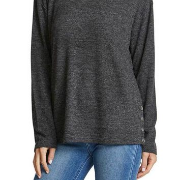 RD Style Side Snap Crewneck Sweater