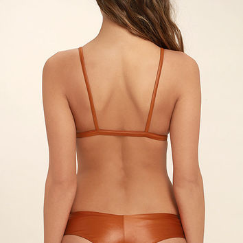 Bond-Eye It's About a Boy Rust Orange Reversible Bikini Bottom