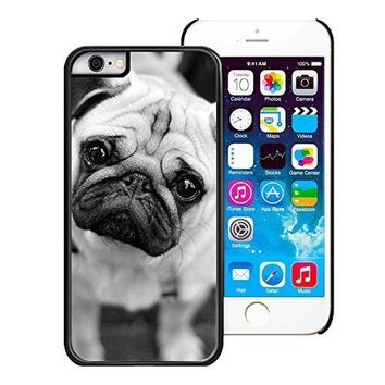 "iPhone 6 Case,Y&M Case, The Series of Cute Pug Dog Lightweight Phone Cases for iPhone 6 (4.7"") -PC/Black"