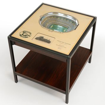 Green Bay Packers | 3D Stadium View | Lighted End Table | Wood