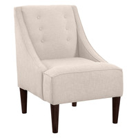 McCarthy Button-Tufted Chair, Talc, Accent & Occasional Chairs