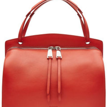 Blunt Leather Tote - Jil Sander | WOMEN | US STYLEBOP.com