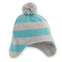 Stripe Trapper Hat