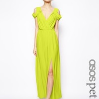 ASOS PETITE Wrap Front Maxi Dress -