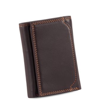 300790-BR Trifold Leather Wallet in Brown | Style n Craft
