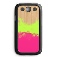 Water Color On Wood Samsung Galaxy S3 Case