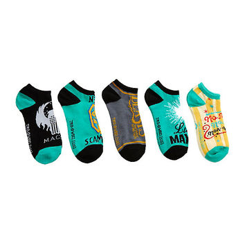 Fantastic Beasts And Where To Find Them No-Show Socks 5 Pair