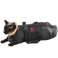 Top Performance Nylon Cat Grooming Bag, Large, Black