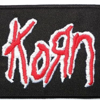 "KORN Red Logo Iron On Sew On Embroidered Patch 2.9""/7.5cm"