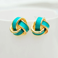 Geometry Spiral Multicolor New Earrings Studs