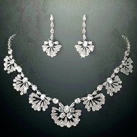 Great Gatsby Style Jewelry Set Antique Rhodium