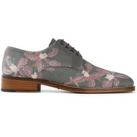 Oxymoron Orchid Print Derby Shoes