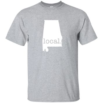 Alabama Local T Shirt with AL Pride and State Outline T-Shirt Gift Tee 1