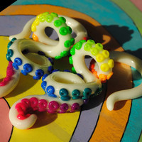 Custom Gradient Tentacle Plugs Gauges 4g 2g by MonstersAndMadness