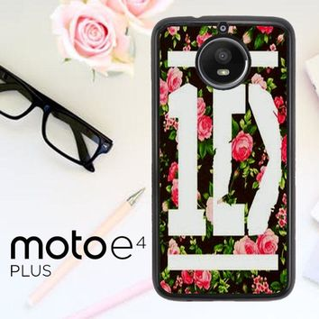1D One Direction Floral V0288 Motorola Moto E4 Plus Case