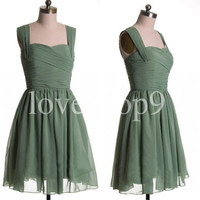 Short Grass Green Prom Dresses Party Dresses Bridesmaid Dresses Homecoming Dresses 2014New Arrival