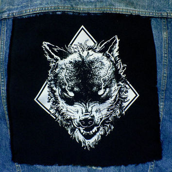 The wolf and the darkness Back Patch | Patches | Punk Patches