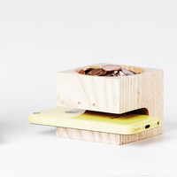 Ms. Block Head Wood Holder - Modern - Desk Accessories - by Hatch Hub