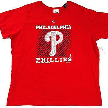 Philadelphia Phillies Majestic T Shirt Ladies Size XL
